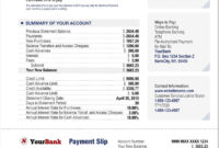 Credit Card Bank Account Statement Template in Credit Card Bill Template
