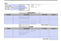Credit Card Invoice Template – Onlineinvoice for Credit Card Bill Template
