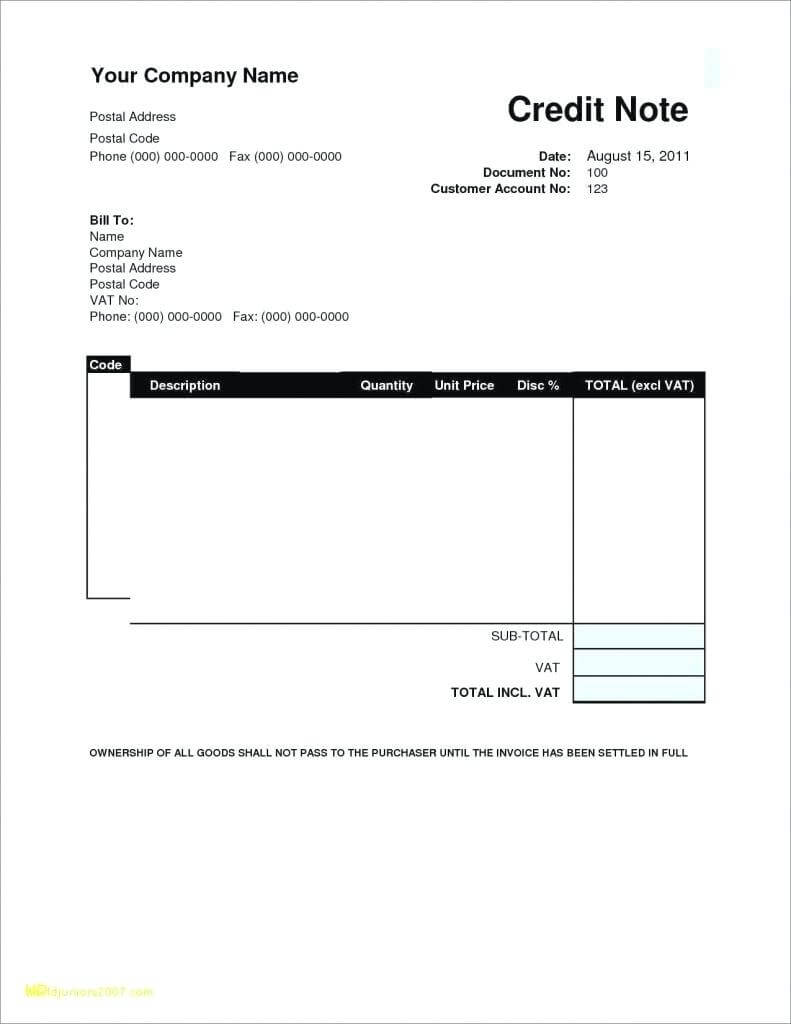 Credit Card Invoice Template Pertaining To Credit Card Size Template For Word