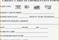 Credit Card Payment Form Pdf Template Australia throughout Credit Card Authorisation Form Template Australia