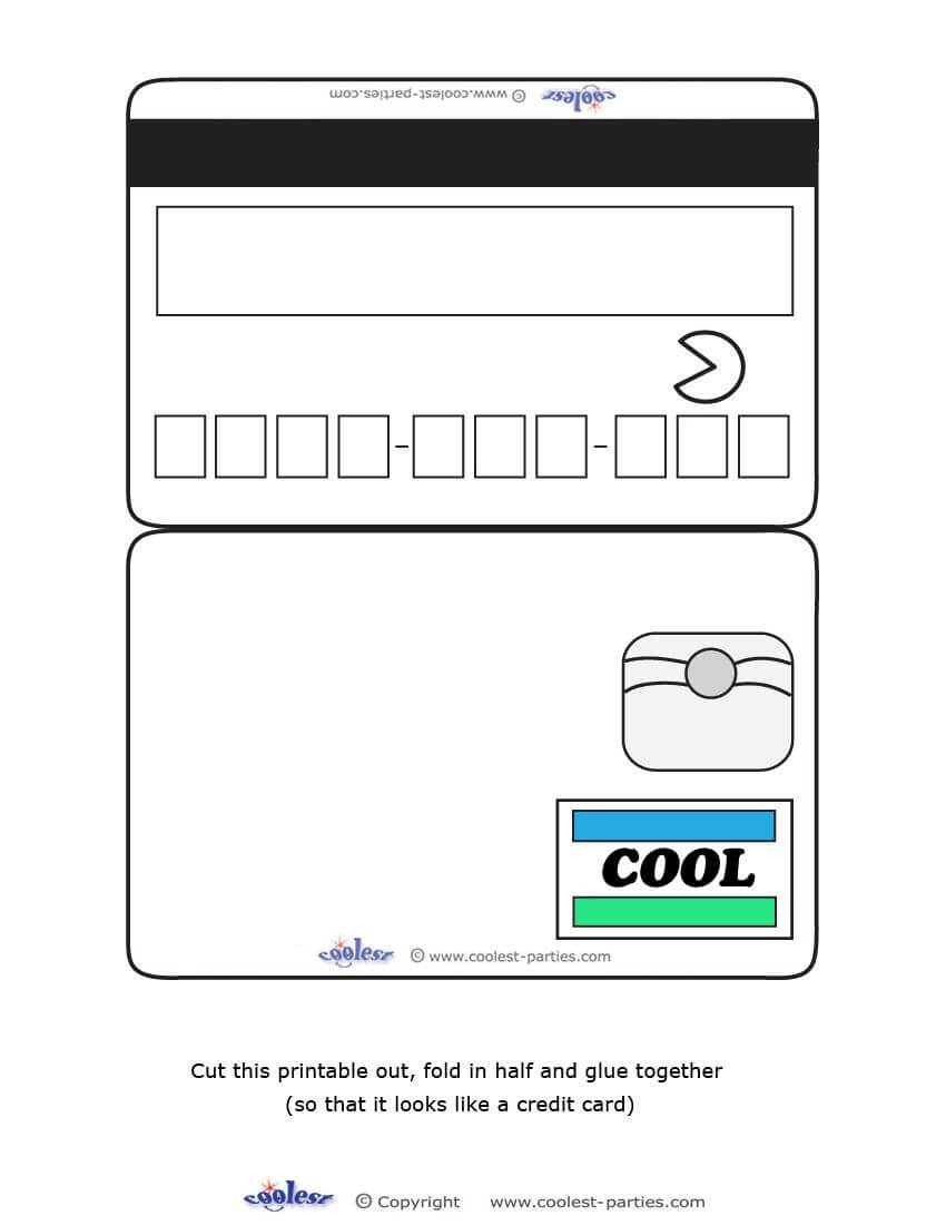 Credit Card Template For Kids - Cumed With Regard To Credit Card Template For Kids