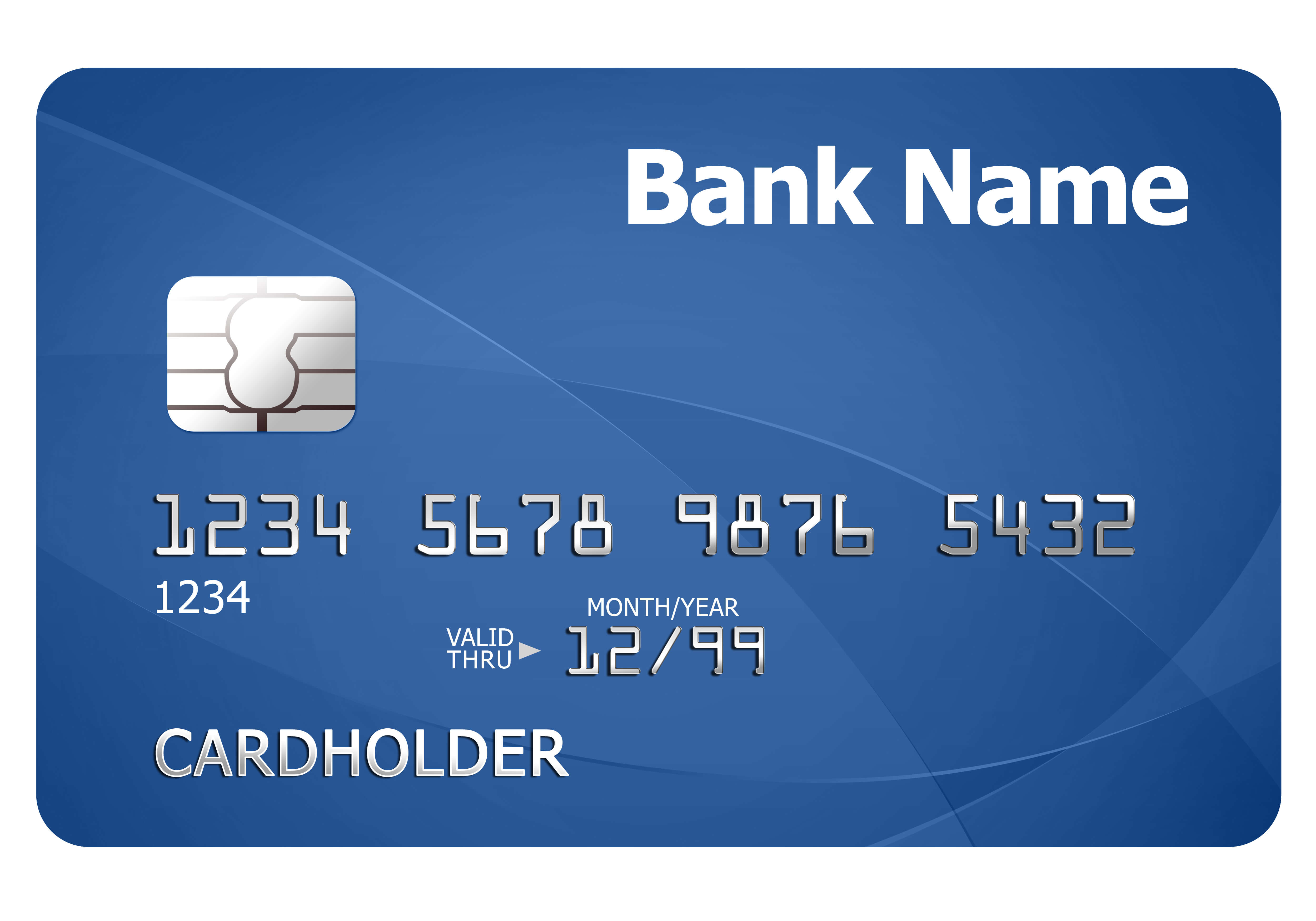 Credit Card Template | Psdgraphics regarding Credit Card Size Template For Word