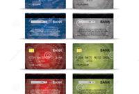Credit Or Debet Cards Design Set Stock Vector – Illustration Throughout Credit Card Templates For Sale