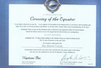 Crossing The Line Certificate Template – Atlantaauctionco inside Crossing The Line Certificate Template