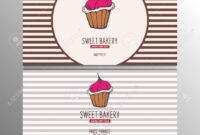 Cupcake Or Cake Business Card Template For Bakery Or Pastry. for Cake Business Cards Templates Free