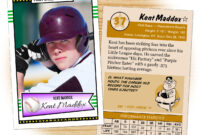Custom Baseball Cards – Retro 50™ Series Starr Cards regarding Custom Baseball Cards Template