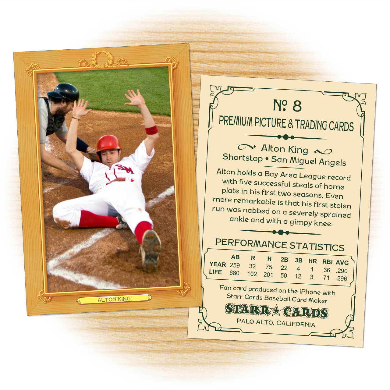 Custom Baseball Cards - Vintage 11™ Series Starr Cards For Custom Baseball Cards Template