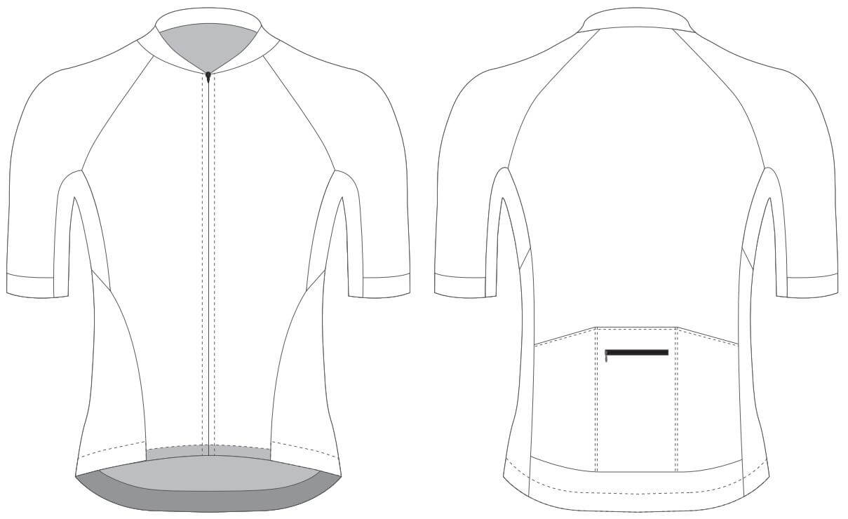Custom Blank Cycling Jersey Design Template - Cyclingbox Inside Blank Cycling Jersey Template