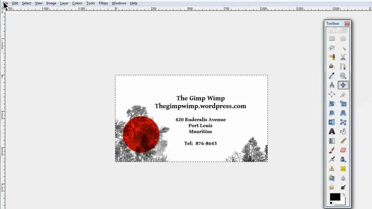 Custom Business Card In Gimp 2.8The Gimpwimp In Gimp Business Card Template