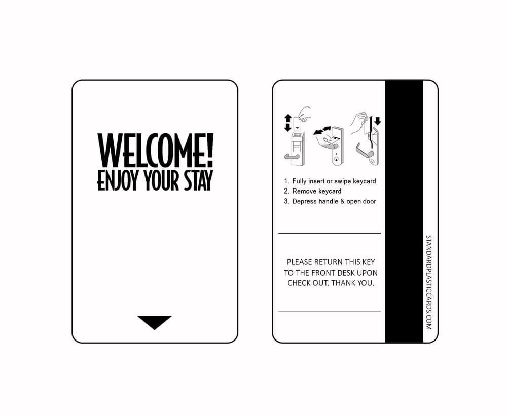Custom & Generic Magnetic Key Cards   Custom Hotel Key Cards Within Hotel Key Card Template