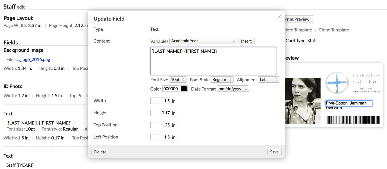 Custom Id Card Templates – Populi Knowledge Base regarding Faculty Id Card Template