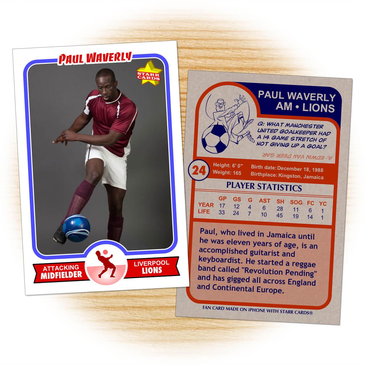 Custom Soccer Cards - Retro 75™ Series Starr Cards Regarding Soccer Trading Card Template