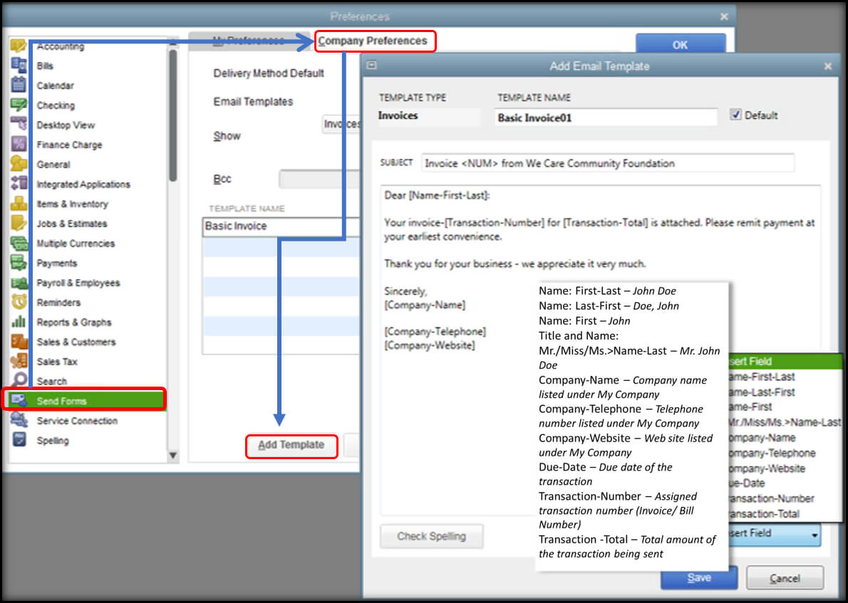 Customise Email Templates In Quickbooks - Quickbooks Community intended for Quick Book Reports Templates