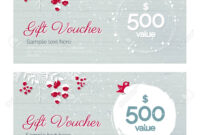 Cute Hand Drawn Christmas Gift Voucher Coupon Discount. Gift.. within Merry Christmas Gift Certificate Templates
