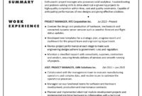 Cv Sample – Project Manager (Electronic/electrical for Operations Manager Report Template