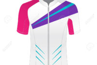Cycling Jersey Mockup. T-Shirt Sport Design Template. Road Racing.. regarding Blank Cycling Jersey Template