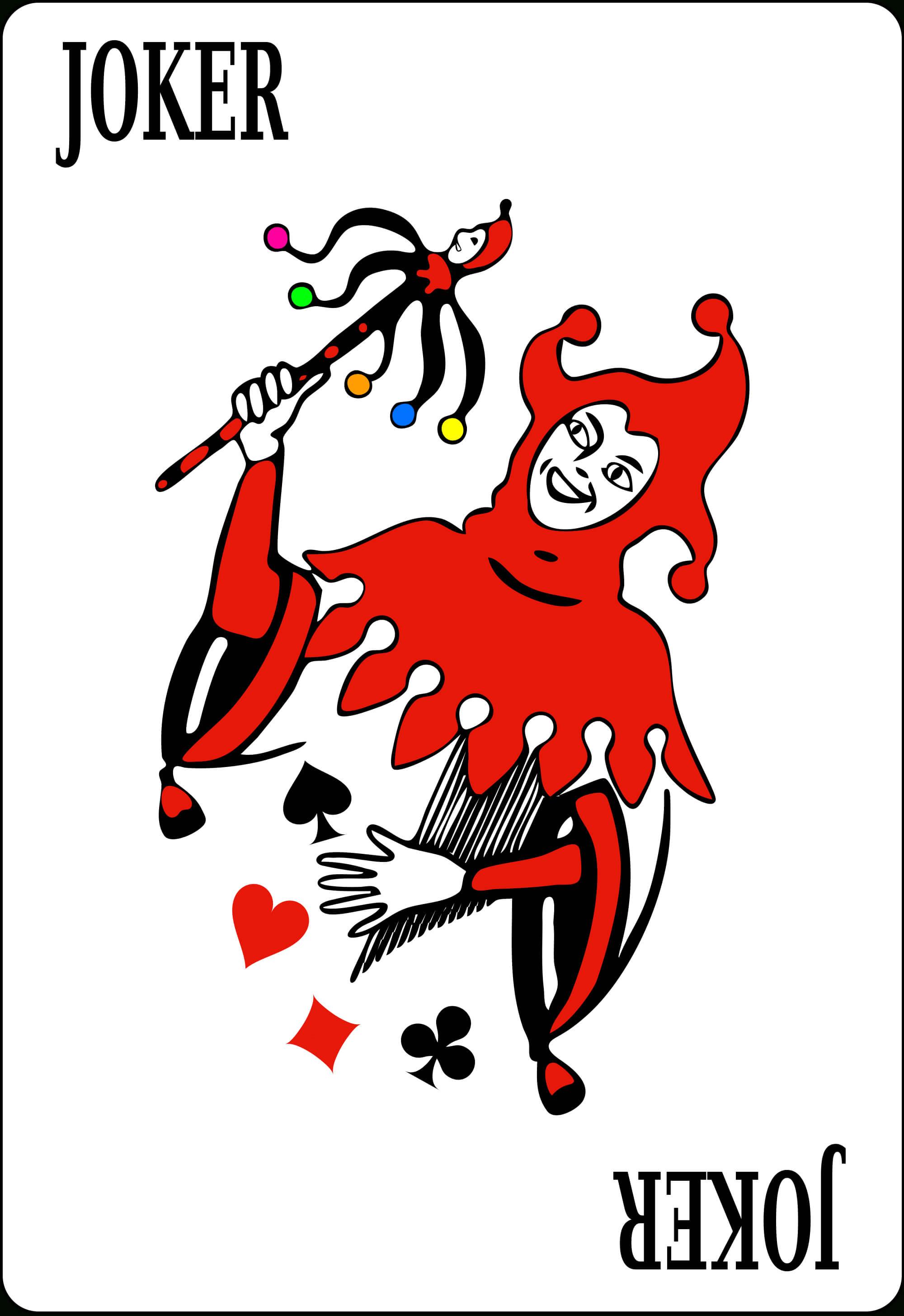 جوكر (بطاقة لعب) - ويكيبيديا Throughout Joker Card Template