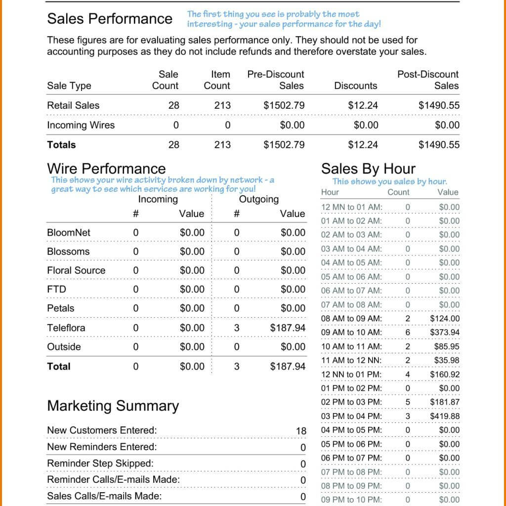 Daily Sales Report Template Excel Free Activity Format Gas With Regard To Free Daily Sales Report Excel Template