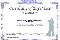 Dance Award Certificate Template | Places To Visit | Award with regard to Dance Certificate Template