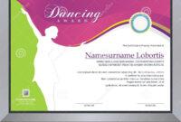 Dance Certificate Template – Professional Template within Dance Certificate Template