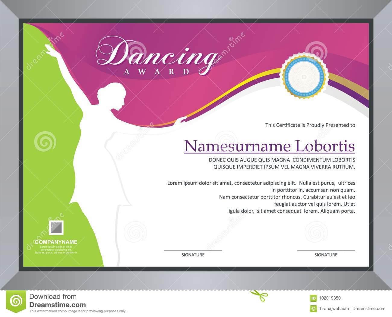 Dance Certificate Template - Professional Template Within Dance Certificate Template