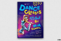 Dance Classes Flyer Template V3 for Dance Flyer Template Word