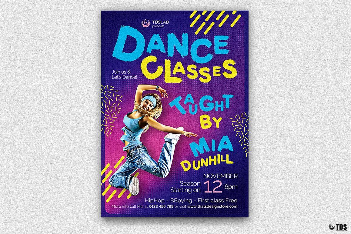 Dance Classes Flyer Template V3 For Dance Flyer Template Word
