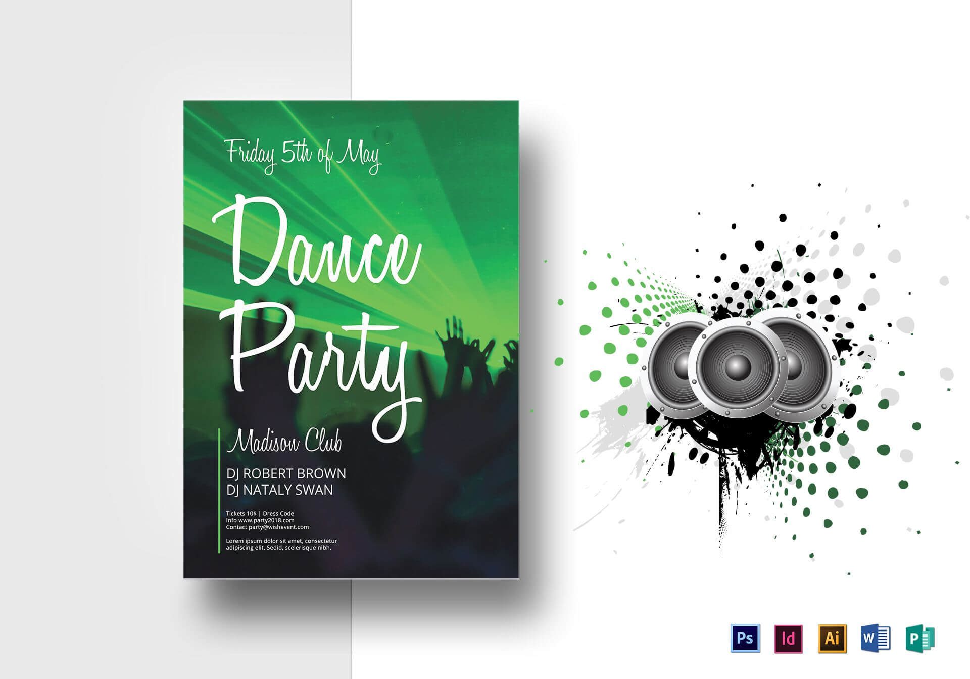 Dance Party Flyer Template For Dance Flyer Template Word