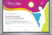 Dancing Award Stock Vector. Illustration Of Ballet throughout Dance Certificate Template