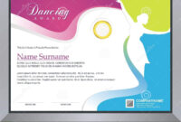 Dancing Certificate Stock Vector. Illustration Of throughout Dance Certificate Template