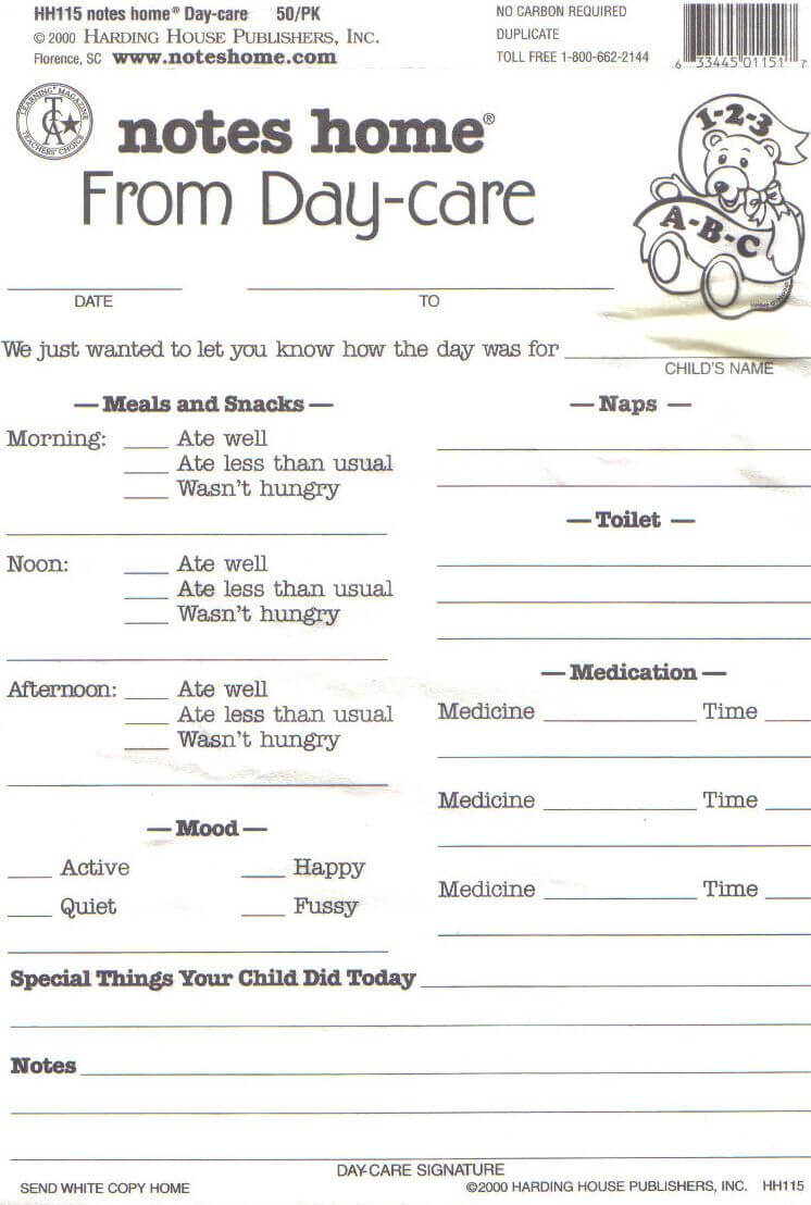 Day Care Infant Daily Report Sheets Printables | Daycare intended for Daycare Infant Daily Report Template