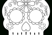 Day Of The Dead Masks Sugar Skulls Free Printable – Paper Throughout Blank Sugar Skull Template