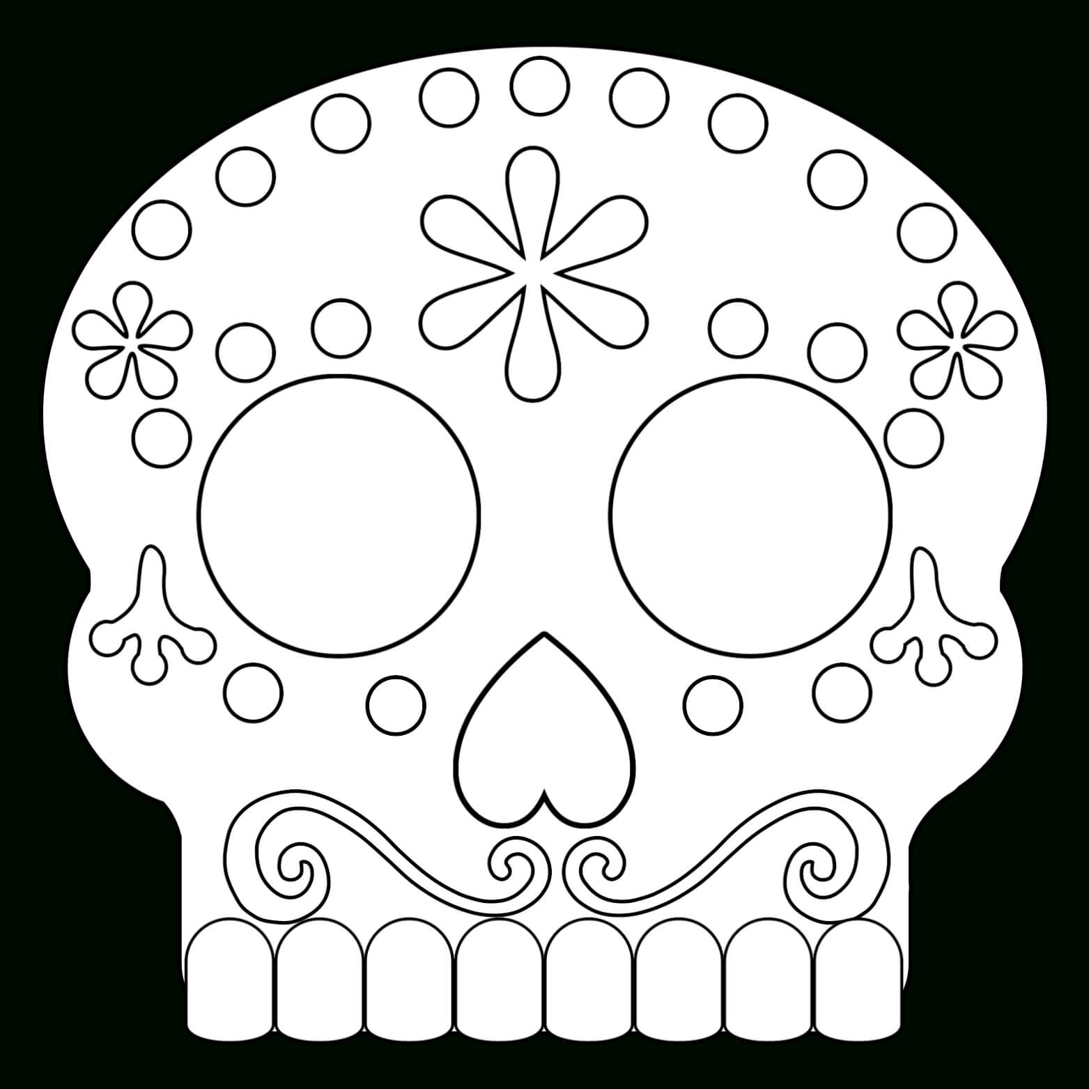 Day Of The Dead Masks Sugar Skulls Free Printable - Paper within Blank Sugar Skull Template
