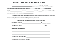 Days Inn Montrose Colorado Credit Card Authorization – Fill throughout Hotel Credit Card Authorization Form Template