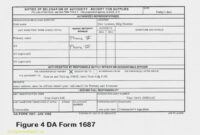 Dd Form 2501 Mar 88 2507 250 Continuation Page 2505 2500 Da within Dd Form 2501 Courier Authorization Card Template