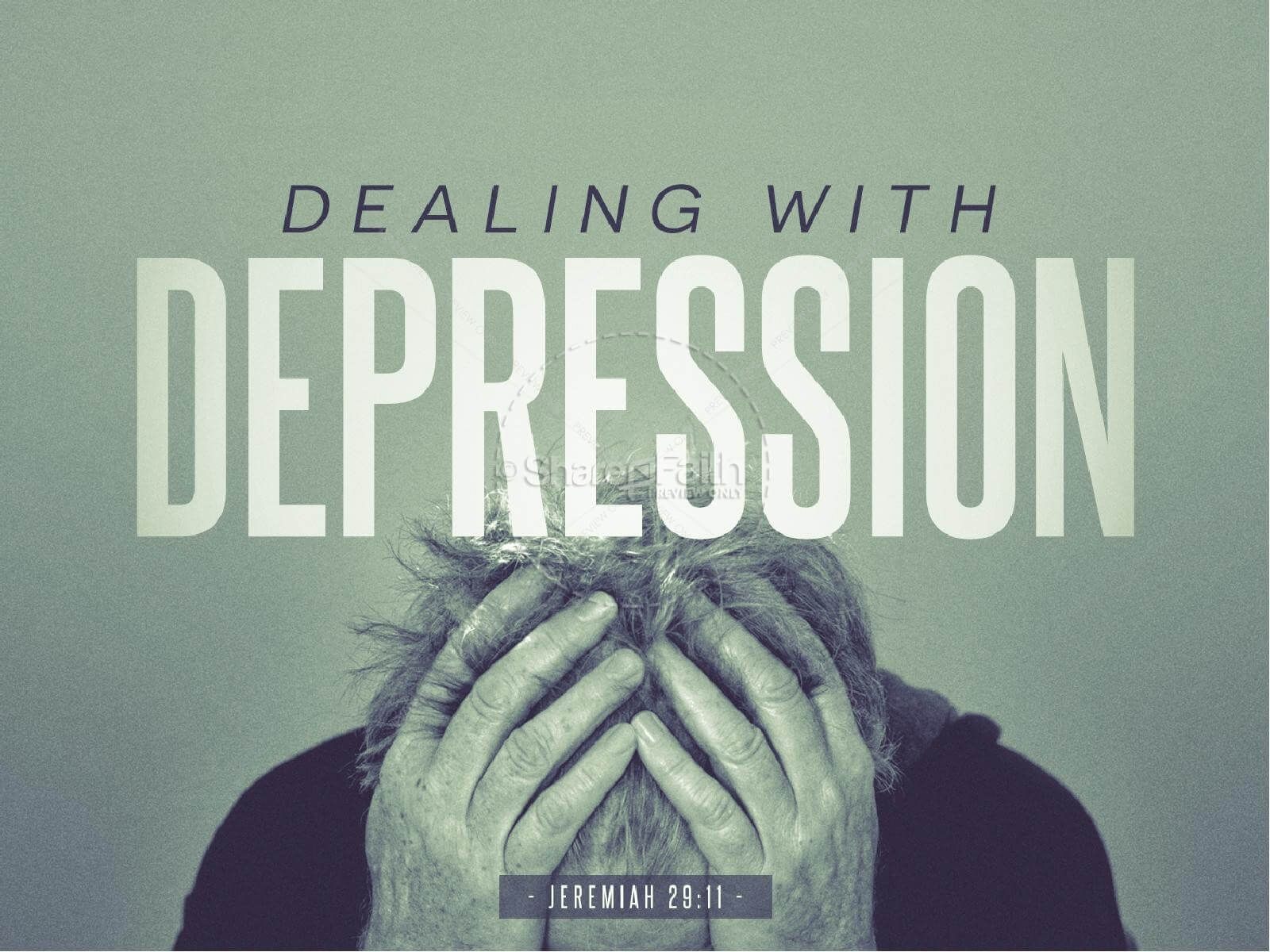 Dealing With Depression Christian Powerpoint | Powerpoint throughout Depression Powerpoint Template