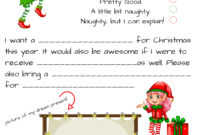 Dear Santa Fill In Letter Template – throughout Blank Letter From Santa Template