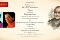 Death Ceremony Invitation In Telugu   Sunshinebizsolutions intended for Death Anniversary Cards Templates