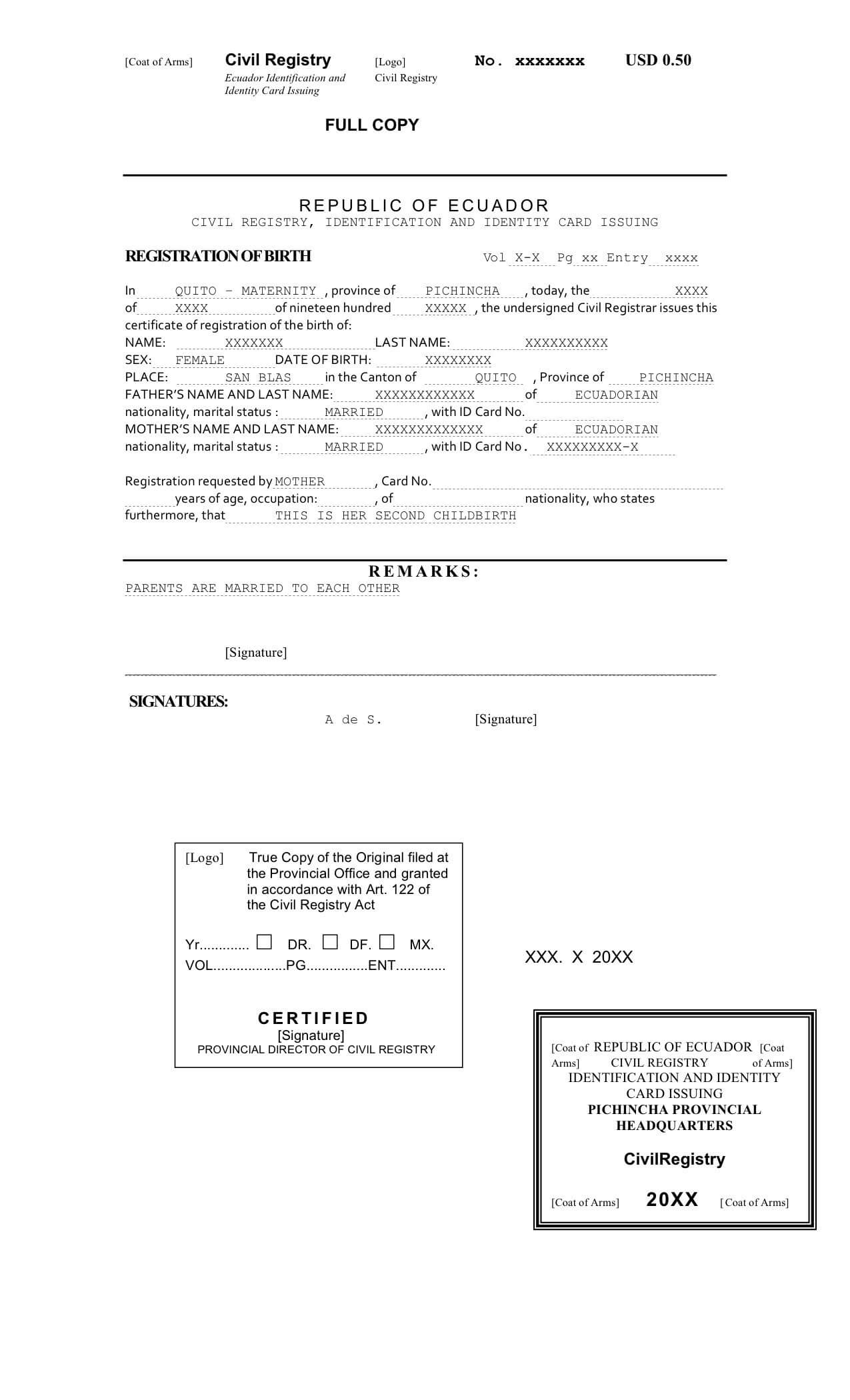 Death Certificate Translation From Spanish To English Sample within Marriage Certificate Translation From Spanish To English Template