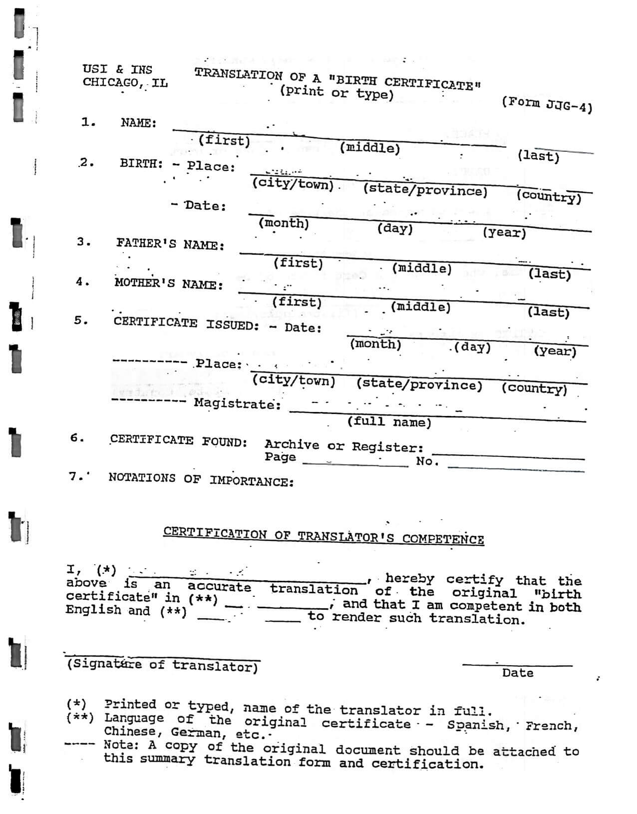 Death Certificate Translation Template Spanish To English inside Death Certificate Translation Template