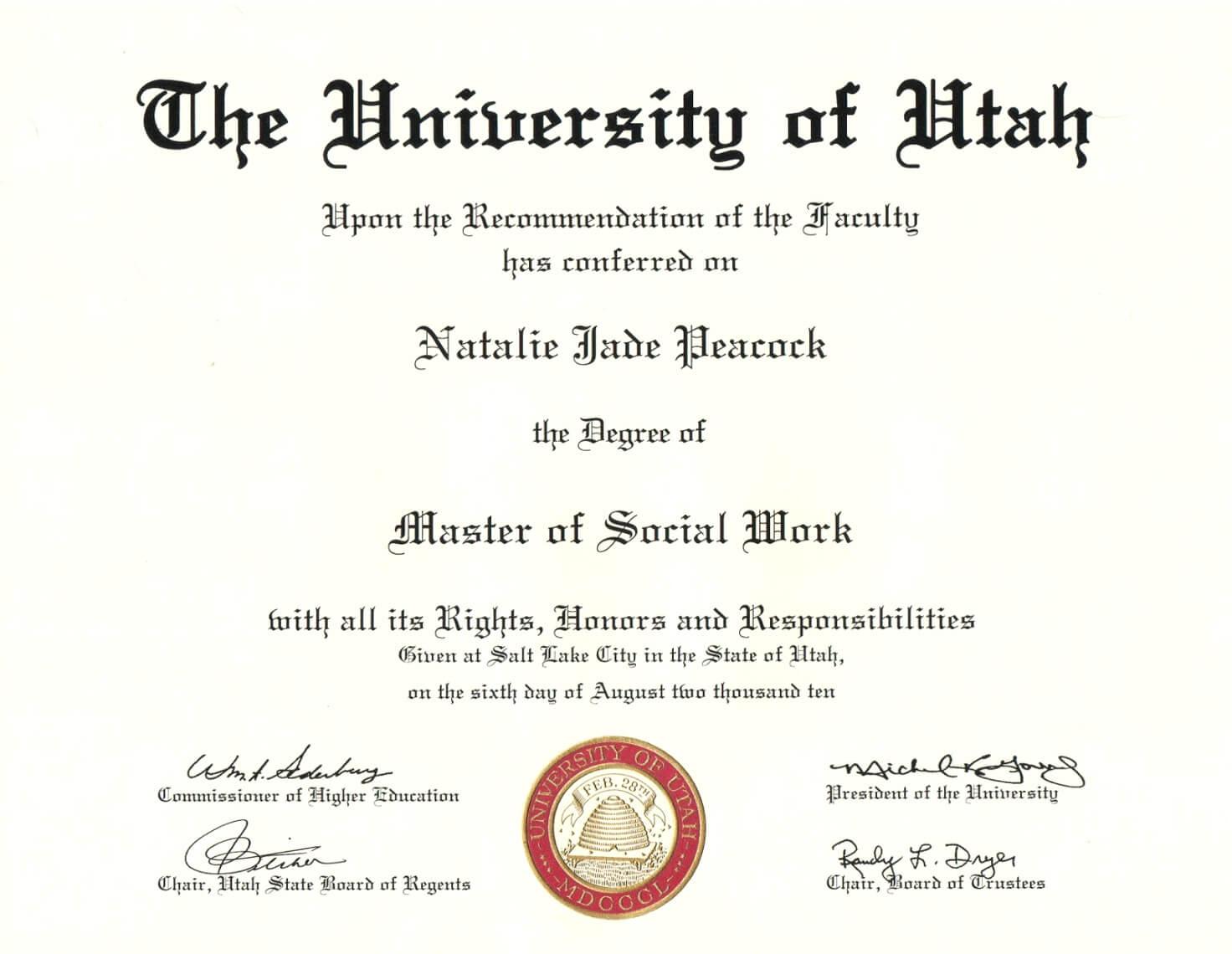 Degree Certificate Template Portablegasgrillweber Com Pertaining To Masters Degree Certificate Template