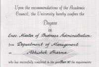 Degree: Degree Certificate Sample Degree Certificates in University Graduation Certificate Template