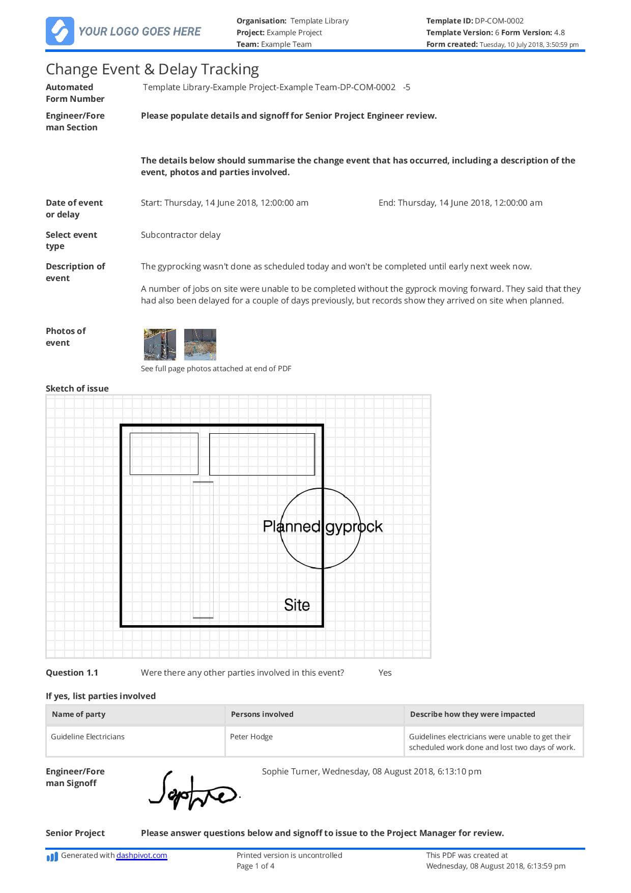 Delay Analysis Report Template: Use This Template For Free Now Pertaining To Project Analysis Report Template