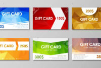 Design Of Colored Polygonal Gift Cards. Templates Of Different.. inside Advertising Cards Templates