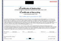 Destruction Certificate Template Image Collections Avery in Hard Drive Destruction Certificate Template