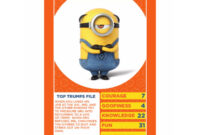 Details About Despicable Me 3 Top Trumps Card Game in Top Trump Card Template