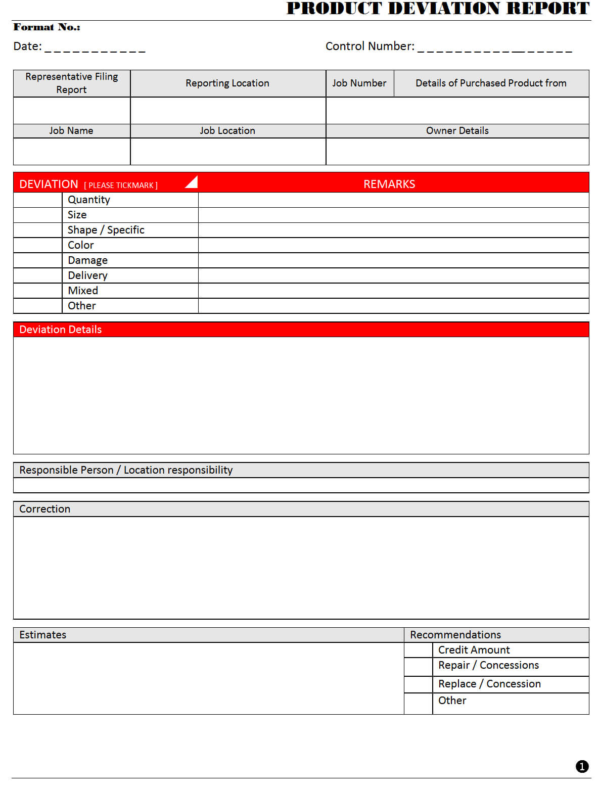 Deviation Report Template - Cumed With Deviation Report Template