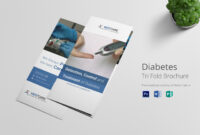 Diabetes Brochure Trifold Template for Tri Fold Brochure Publisher Template