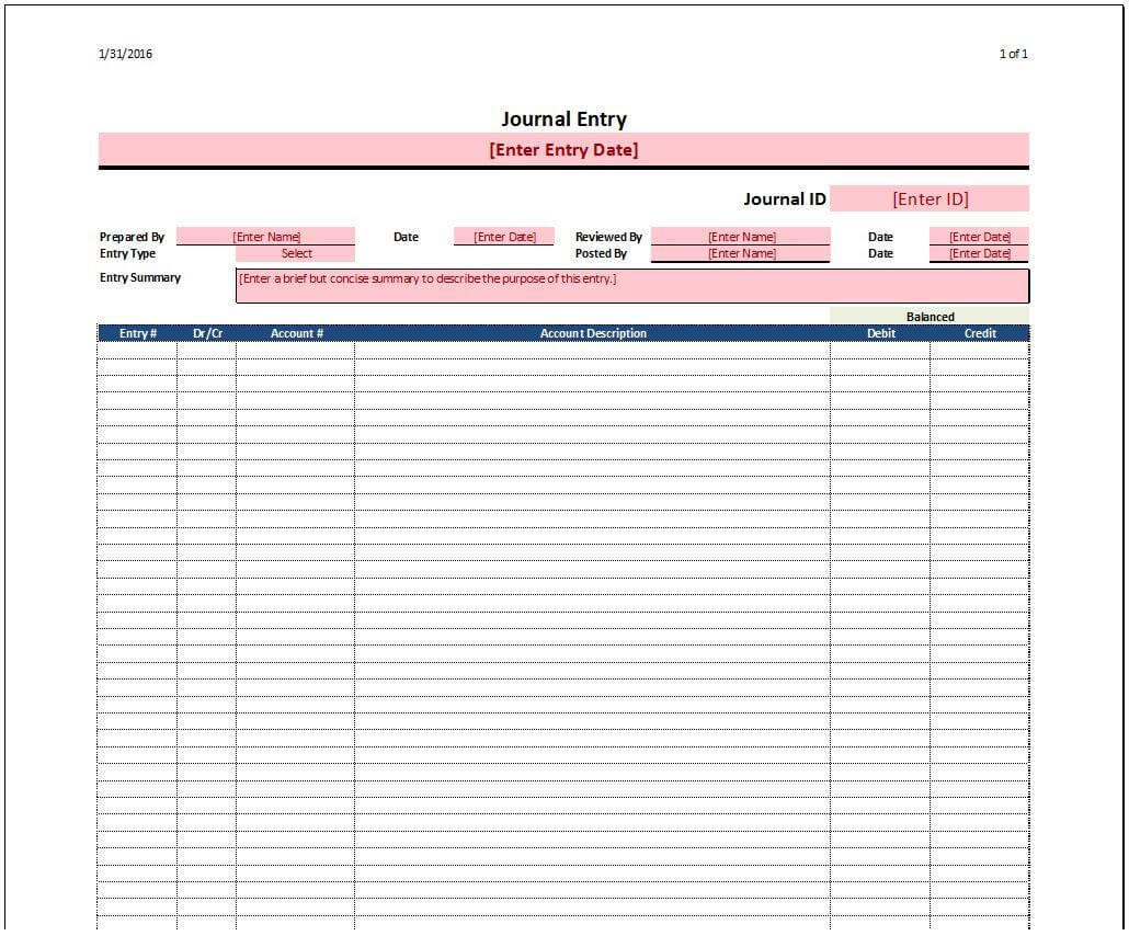 Diary Entry Template Word - Yupar.magdalene-Project within Double Entry Journal Template For Word