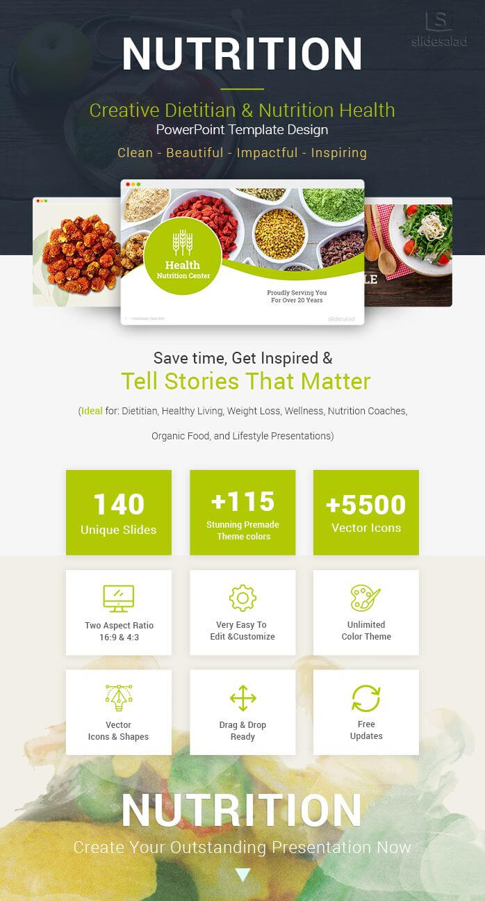 Diet And Nutrition Powerpoint Template Designs | Diet regarding Nutrition Brochure Template